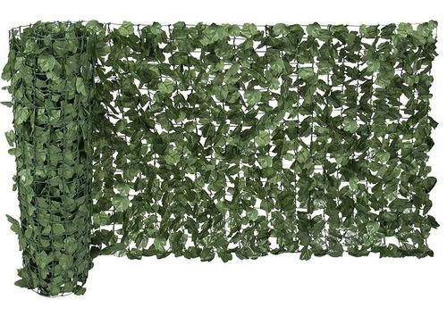 Imagen 1 de 5 de Biombo D Tela De Hojas Verde Para Decoracion Hogar Evento