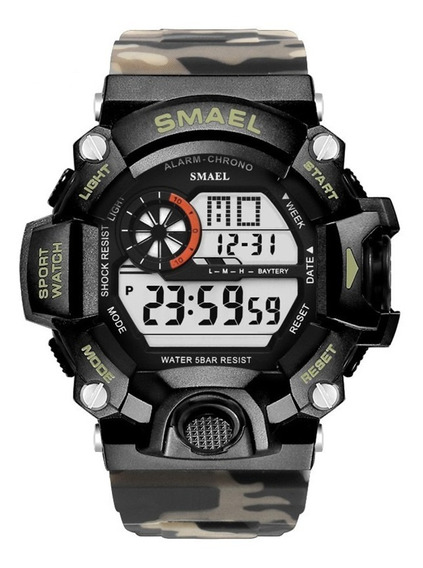 Relógio Masculino Smael Militar Esportivo À Prova D