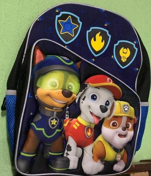 Paw Patrol Mochila Escolar Patrulla Canina 3d Acolchonada