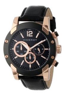 Reloj Hombre Viceroy 47729-95 Cronografo Acero Wr 100 M