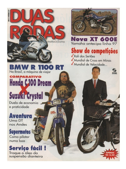 Duas Rodas N°251 Bmw R 1100 Rt C100 Dream Suzuki Crystal Xt
