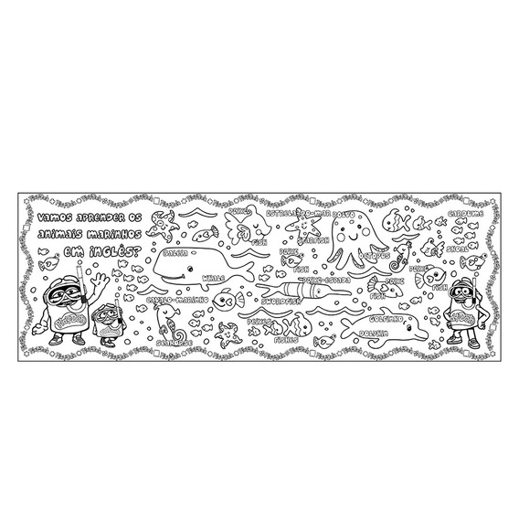 Tapete Infantil De Atividades P/ Colorir Com Giz 8005-8 Fun
