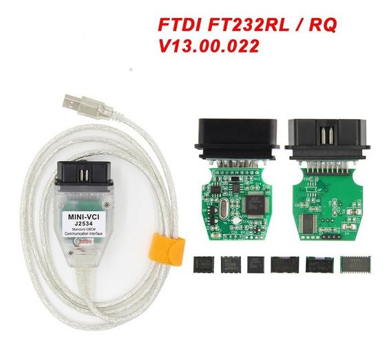 Mini Vci J2534 Obd2 Usb Conector Cabo Diagnóstico Programa