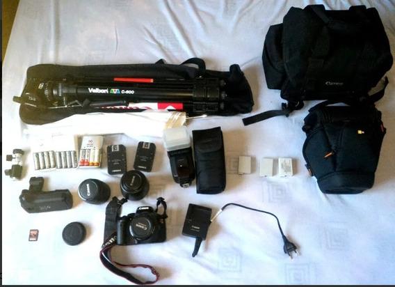 Câmera Dslr Cannon T2i + Kit Completo Fotografia