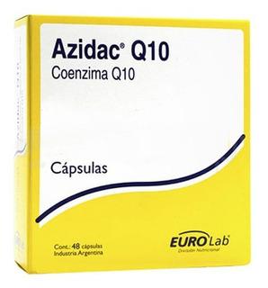 Azidac Q10 Suplemento Dietario Con Coenzima Q10 48 Cápsulas