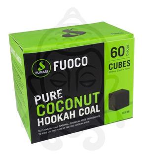 Carbón Para Hookah (shisha) Fumari, De Coco, 60 Unidades