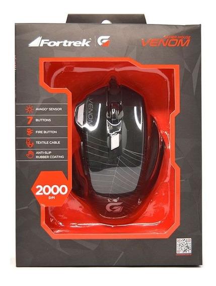 Mouse Gamer Fortrek Venom Om704 Pt 2000dpi