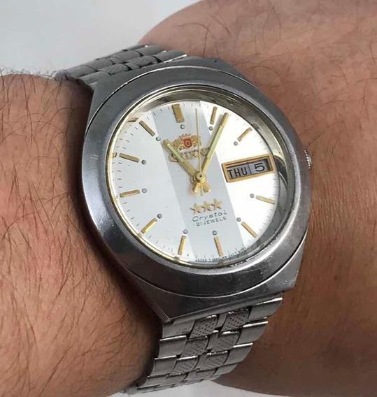 Relógio Vintage Orient Automático 21 Jewels Crystal Anos 80