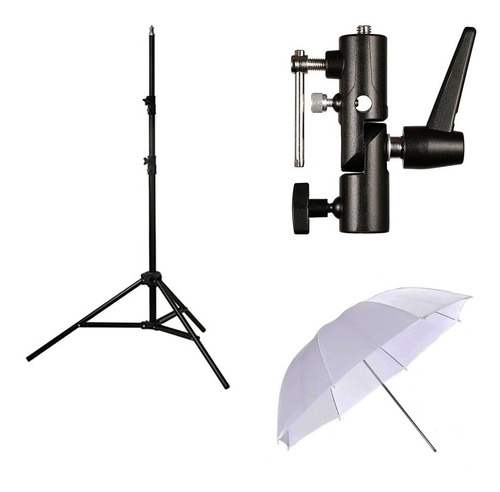 Kit Foto Inicial Tripode+paraguas Translucido+rotula
