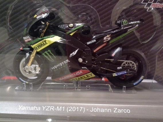 Miniatura Yamaha Yzr-m1 2017 Zarco 5 Salvat 1:18 (11 Cm)