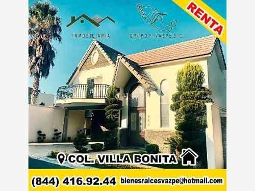Casa Sola En Renta Fracc Villa Bonita