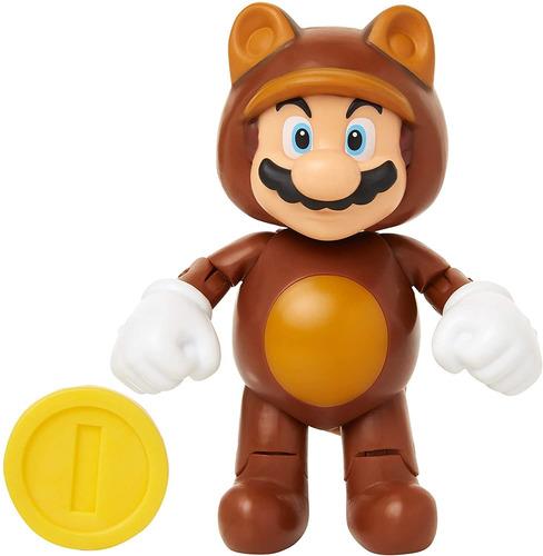Mundo De Nintendo   Mario Tanuki Con La Moneda Acción