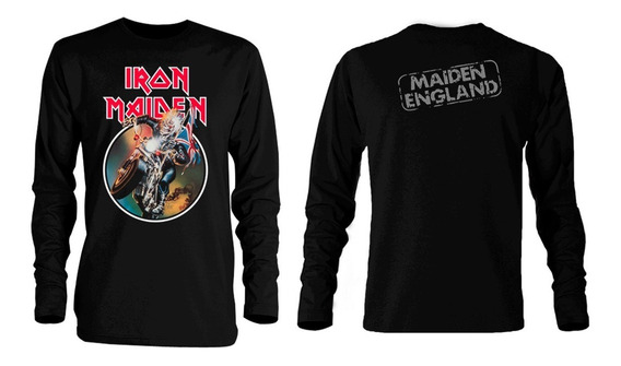 Playera Iron Maiden Made In England Manga Larga Rainbow Dio