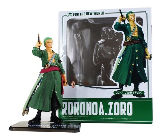 Action Figure Roronoa Zoro One Piece Novo Mundo Figuarts