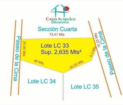 Cad La Cima Club Residencial Lote Lc 33 Con Dos Frentes 2,637 M