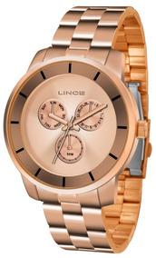 Relógio Lince Multifução Feminino Lmr4478l R1rx - Rosê