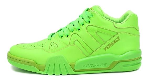 Tenis Sneakers Versace 100% Originales Ophion Verde