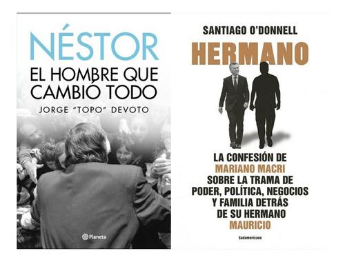 2 Libros Hermano Mariano Macri + Nestor Jorge Topo Devoto