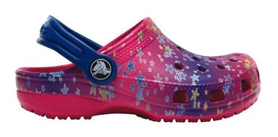 Zapato Crocs Niña Classic Graphic Clog K Rosa
