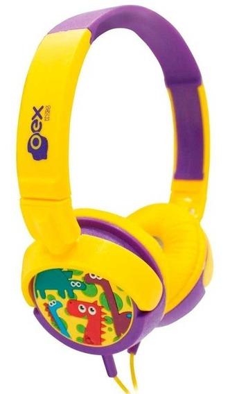 Headphone Dino Infantil Kids Fone Ouvido Ajustável Oex