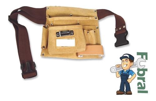 Cinturon Porta Herramientas De Cuero Simple Fubral