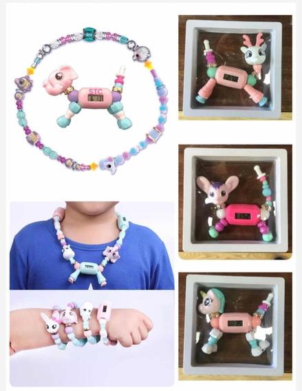 Magic Bracelet Con Reloj- Pulsera Con Reloj Para Niñas