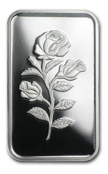 Robmar-lingote Pamp De Plata-pura Suiza 10 Gramos. Una Flor