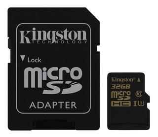 Cartão Kingston Micro Sdhc 32gb Uhs-1 C10 U3 V30 90mb/s