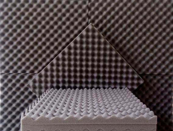 Kit 25 Placas 35mm Espuma Acústica Anti Chamas