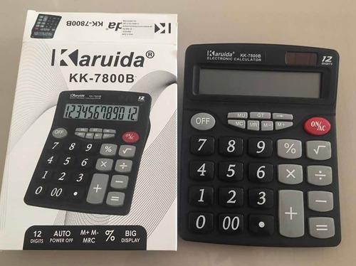 Calculadora Básica 12 Dígitos Karuida Kk-7800b