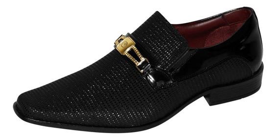 Sapato Social Masculino Gofer Loafer Verniz
