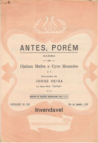 Partitura Antes, Porem Samba Cyro Monteiro Jorge Veiga