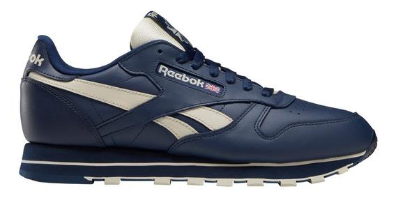 Zapatillas Reebok Classic Leather Azu/bei De Hombre