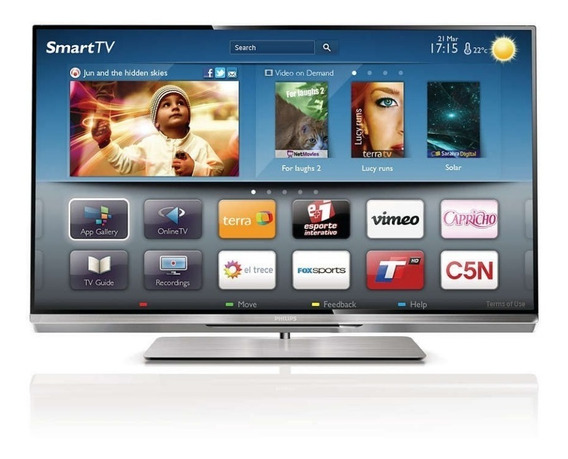Smartv Led Philips 55 3d Full Hd - 55pfl6007g/78