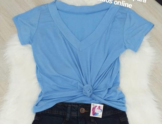 Camiseta T-shirt Podrinha Feminina Manga Curta Blogueira