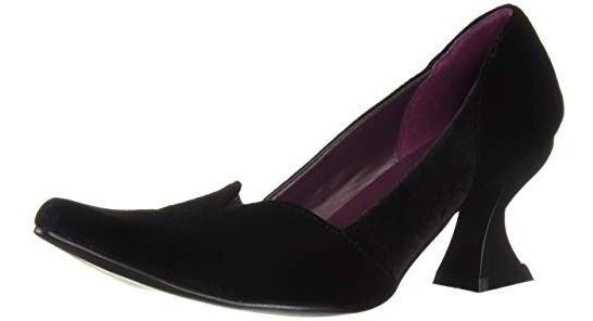 Zapatos Victorianos De Bruja Negros Para Damas 5