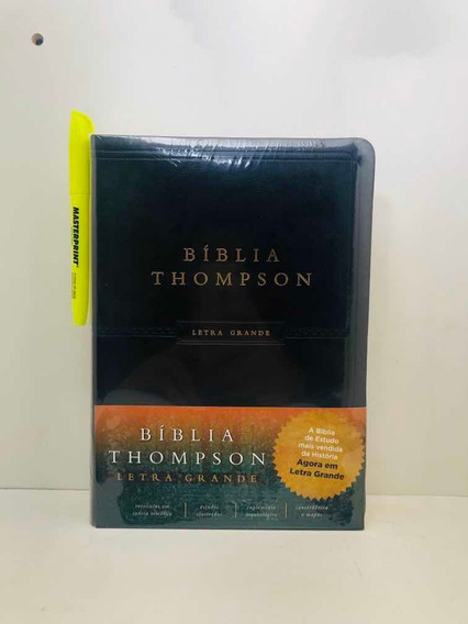 Bíblia Sagrada De Estudo Thompson Letra Grande Preta