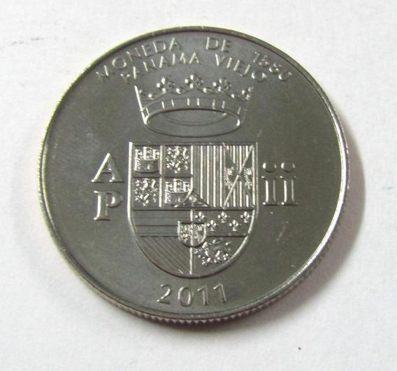 Moneda De Panama Año 2011 1/2 Balboa Panama Viejo