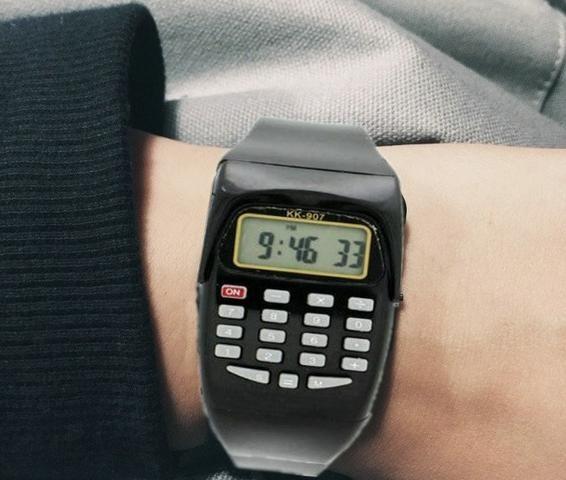 Relógio Calculadora Unissex