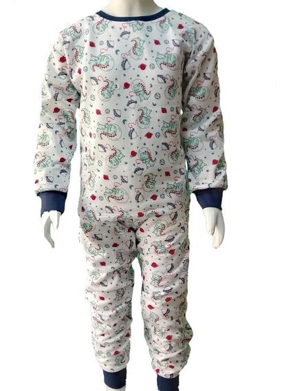Combo Com 3 Pijamas Infantil Flanelado 8/10/12 Menino