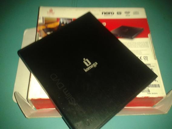Iomega Black Super Slim Dvd Portable Writer Pc Mac Linux