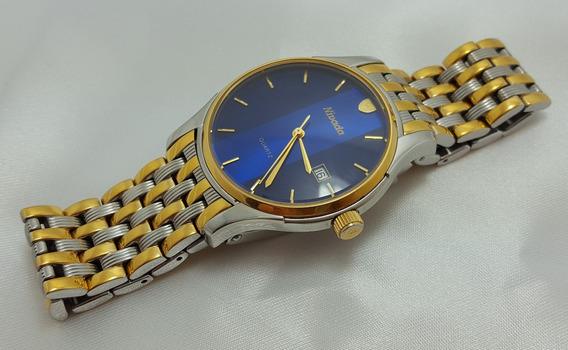 Relógio De Pulso Masculino Nivada Folheado A Ouro