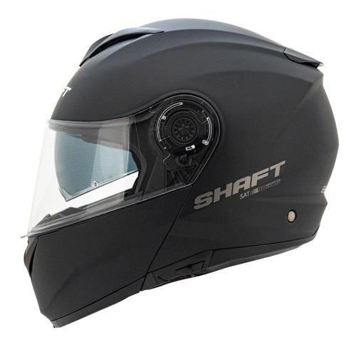 Casco Shaft 3690-dv Abatible Solid Negro
