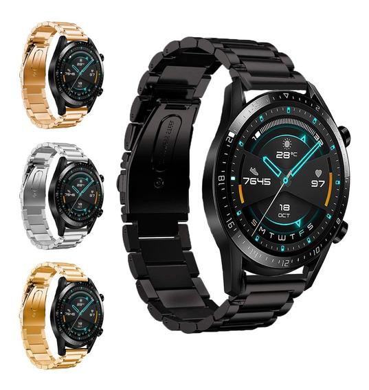 Correa De Eslabones Para Huawei Watch Gt 2 46mm + Mica