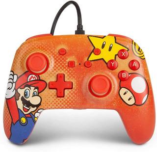 ..:: Control Pro Alambrico ::.. Switch Super Mario Red