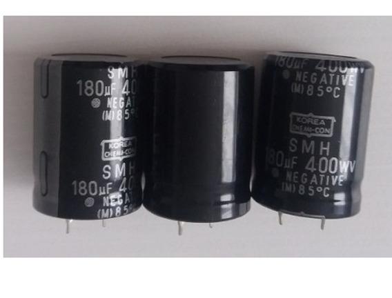 1un Capacitor Eletrolítico 180uf X 400v