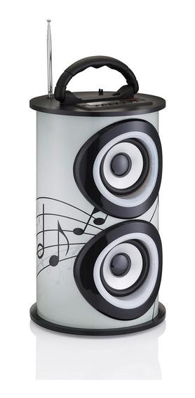 Caixa De Som Amplificada Portatil Bluetooth Usb Fm Trc 218b