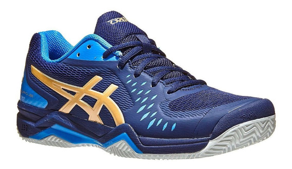 Tênis Asics Gel Challenger 12 - Azul E Champagne - Clay