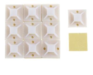 50 Bases Adheribles Para Cinchos Sujetacables De Nylon 25mm
