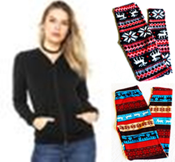 Jaquetinha Plush + 2 Calças Legging Inverno 36 38 40 +envio